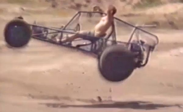 Fails and falls on two or more wheels