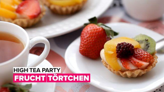 High tea party: Fruchttörtchen