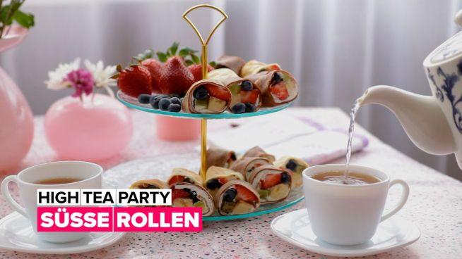 High Tea Party: Süße Röllchen