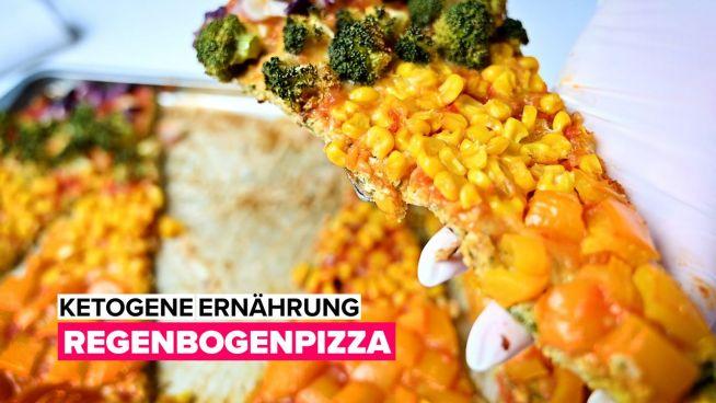 Ketogene Ernährung: Regenbogenpizza