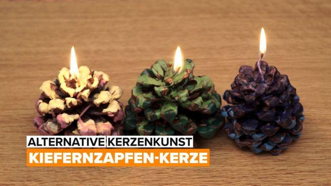 Alternative Kerze Kunst – Kiefernzapfen-Kerze