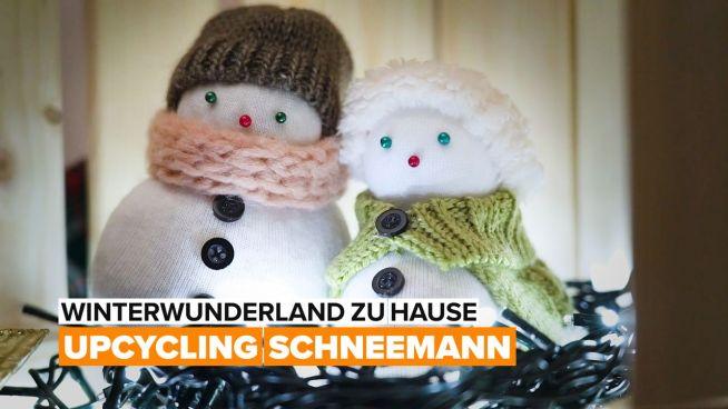 Winterdekor – Sockenschneemann
