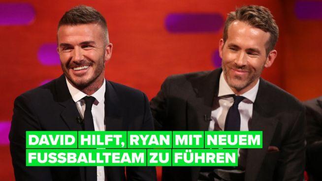 Ryan Reynolds ließ sich von David Beckham beim Kauf seines neuen Fußballclubs beraten