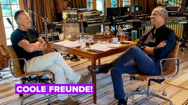 Barack Obama und Bruce Springsteen haben einen neuen Podcast