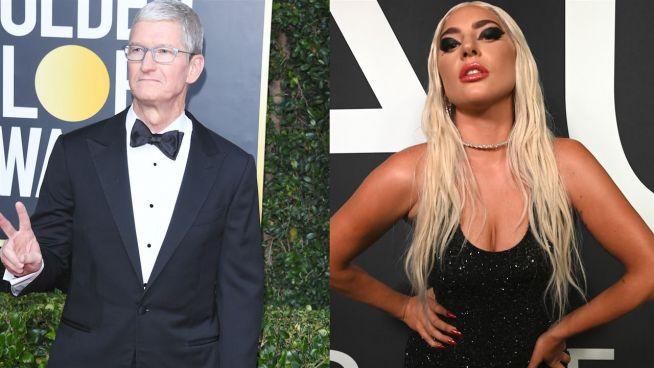 Lady Gaga spricht mit Apple-CEO Tim Cook